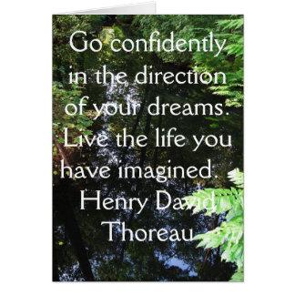Tarjeta CITA de Henry David Thoreau