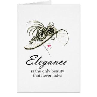 Tarjeta Cita de la moda de la elegancia