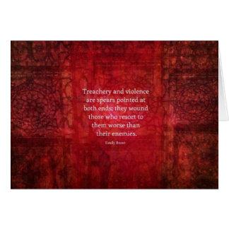 Tarjeta Cita de la SABIDURÍA de Emily Bronte