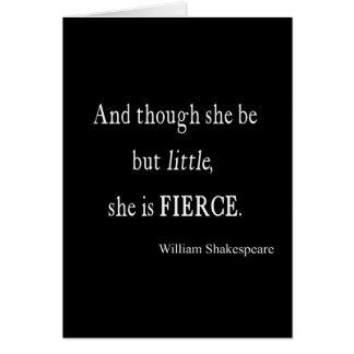 Tarjeta Cita de Shakespeare ella sea citas pequeñas pero