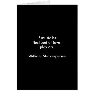 Tarjeta Cita de William Shakespeare - amor