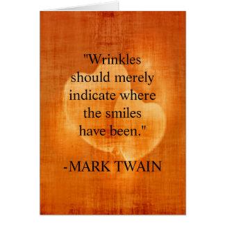 Tarjeta Cita del cumpleaños de Mark Twain con los