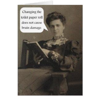 Tarjeta Cita del papel higiénico