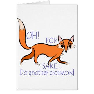 Tarjeta Cita divertida linda del Fox para motivar a