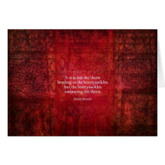 Tarjeta Cita inspirada de Emily Bronte