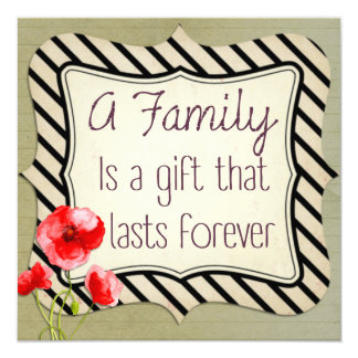 Tarjeta Cita inspirada de la familia
