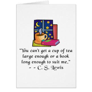 Tarjeta Cita Notecard del té y de los libros w