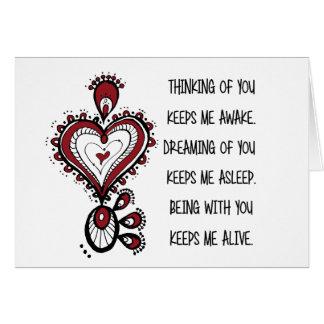 Tarjeta Citas del amor del el día de San Valentín