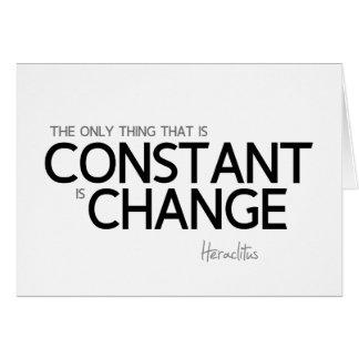 Tarjeta CITAS: Heraclitus: Cambie es constante