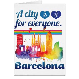 Tarjeta Ciudad amistosa de Wellcoda Barcelona España