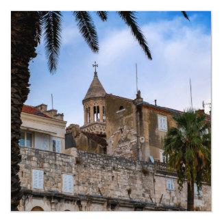 Tarjeta Ciudad vieja, fractura, Croacia