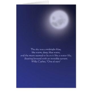 Tarjeta Claro de luna con cita