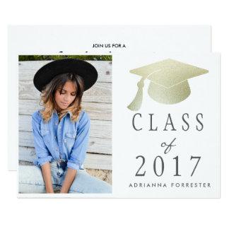 Tarjeta Clase de foto del gorra de la graduación de la