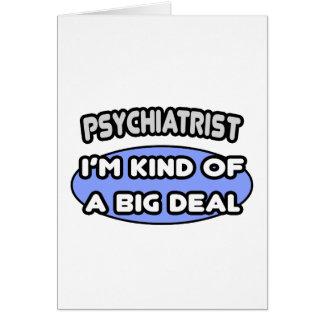 Tarjeta Clase del psiquiatra… de una gran cosa