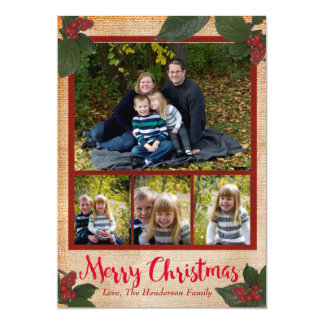Tarjeta clásica de la foto del navidad de las