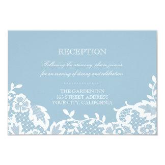 Tarjeta clásica de la recepción del cordón invitación 8,9 x 12,7 cm