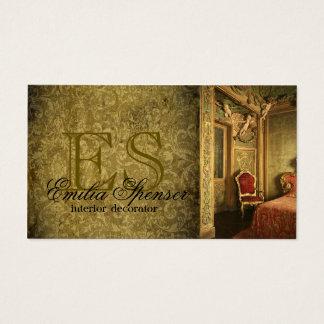 Tarjeta clásica del estilo del decorador del