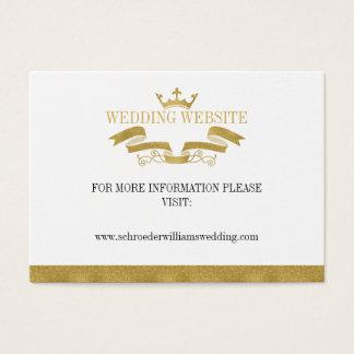 Tarjeta clásica del Web site del boda del escudo