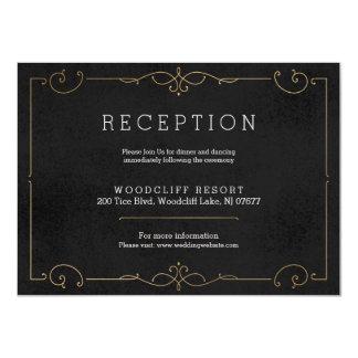 Tarjeta clásica moderna elegante de la recepción invitación 11,4 x 15,8 cm