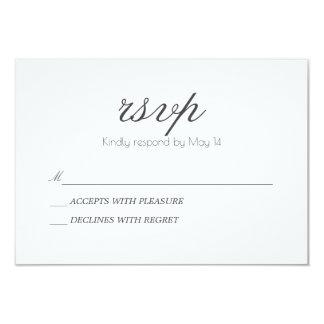 Tarjeta clásica y romántica del | RSVP Invitación 8,9 X 12,7 Cm