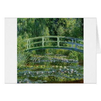 Tarjeta Claude Monet - puente japonés