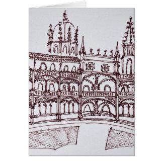 Tarjeta Claustro el | Lisboa, Portugal del monasterio de