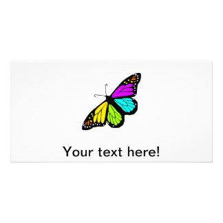Tarjeta Clipart colorido de la mariposa