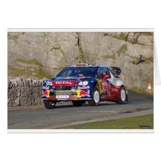 Tarjeta Coche de la reunión de WRC