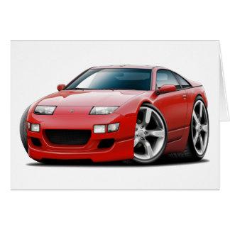 Tarjeta Coche del rojo de Nissan 300ZX