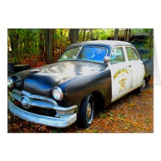 Tarjeta Coche policía viejo de la patrulla de la carretera