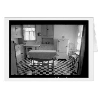 Tarjeta Cocina de la granja de la Depresión-Era