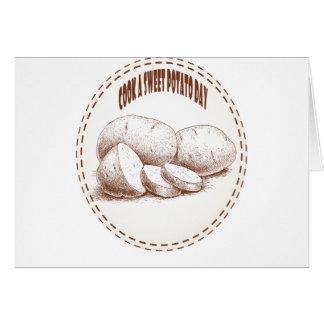 Tarjeta Cocine un día de la patata dulce - día del aprecio