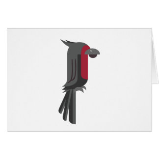 Tarjeta Cockatoo negro elegante de la palma