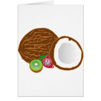 Tarjeta Cocos tropicales del kiwi