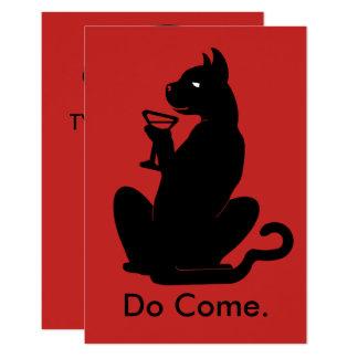 Tarjeta CÓCTEL del CAT del GATITO por Slipperywindow