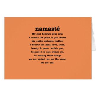 Tarjeta Colección de Namaste