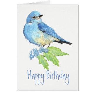 Tarjeta Colección del pájaro de la acuarela del Bluebird