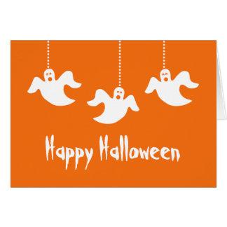 Tarjeta colgante de Halloween de los fantasmas, na