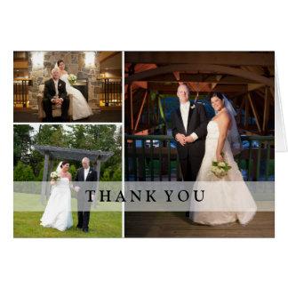 Tarjeta Collage de la foto del boda - gracias