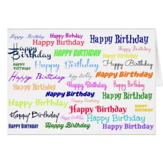 Tarjeta Collage del feliz cumpleaños