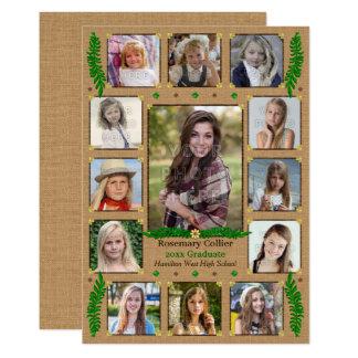 Tarjeta Collage rústico de la foto del fiesta de