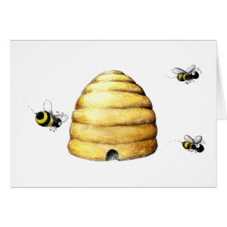 Tarjeta Colmena de la abeja