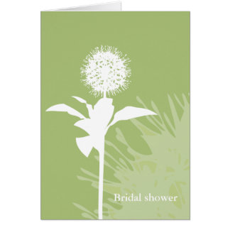 Tarjeta Color de Dandi: Notecards nupciales de la ducha de