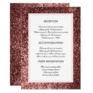 Tarjeta color de rosa de la huésped de la invitación 11,4 x 15,8 cm