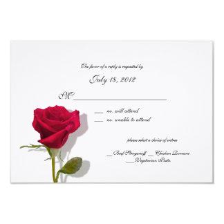 Tarjeta color de rosa de la respuesta invitación 8,9 x 12,7 cm