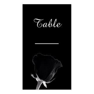 Tarjeta color de rosa de la tabla de Noire Tarjetas De Visita
