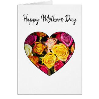 Tarjeta color de rosa del día de madres del
