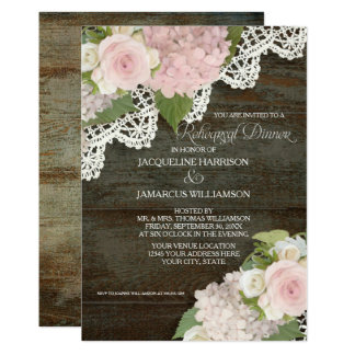 Tarjeta Color de rosa floral oscuro rústico moderno de la