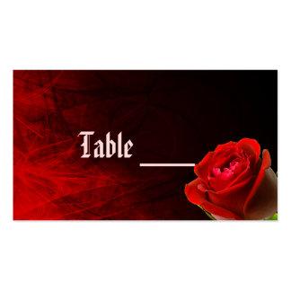 Tarjeta color de rosa gótica de la tabla plantillas de tarjeta de negocio