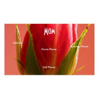 Tarjeta color de rosa rosada verde clara del tarjetas de visita
